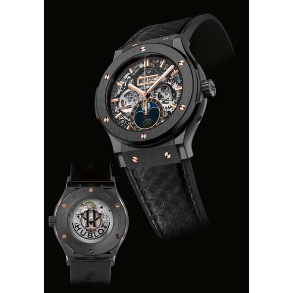 gold-pointer-hublot-Replica-Watches