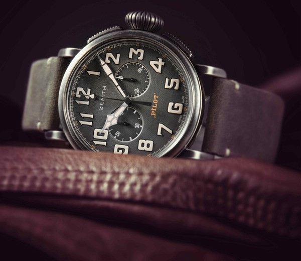 4069 Movement Zenith Heritage Pilot Cafe Racer Copy Watches