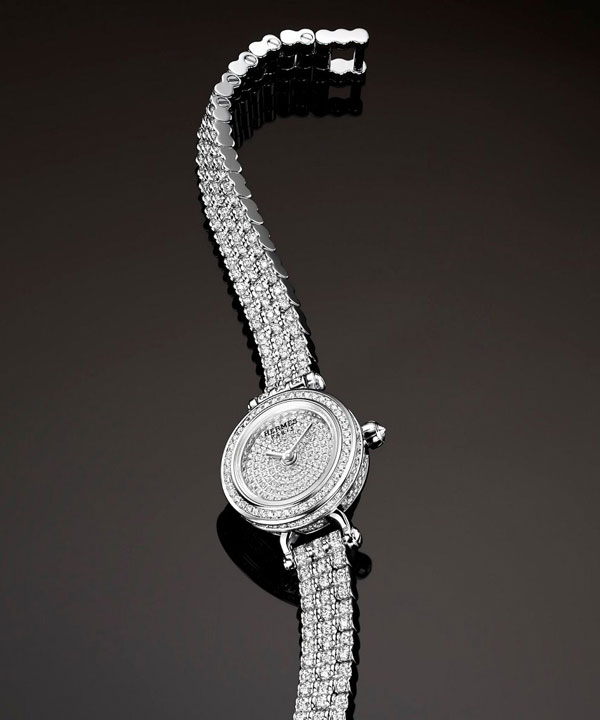 diamonds dial copy Hermes Faubourg Joaillerie watch