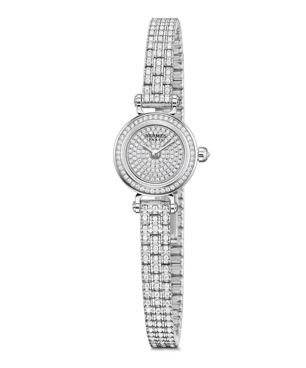 replica white gold case Hermes Faubourg Joaillerie watch