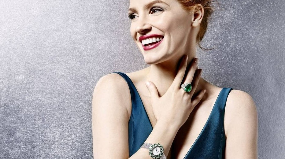 Jessica Chastain And Replica Diamond Bezel Piaget Sunny Side of Life