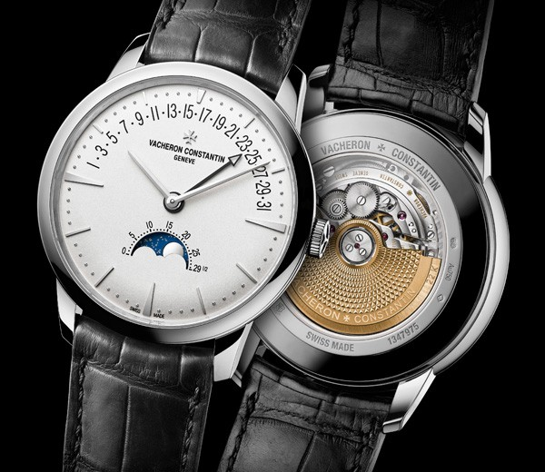 White Dial Fake Vacheron Constantin Patrimony Moonphase & Retrograde Date Watches With New Appearance