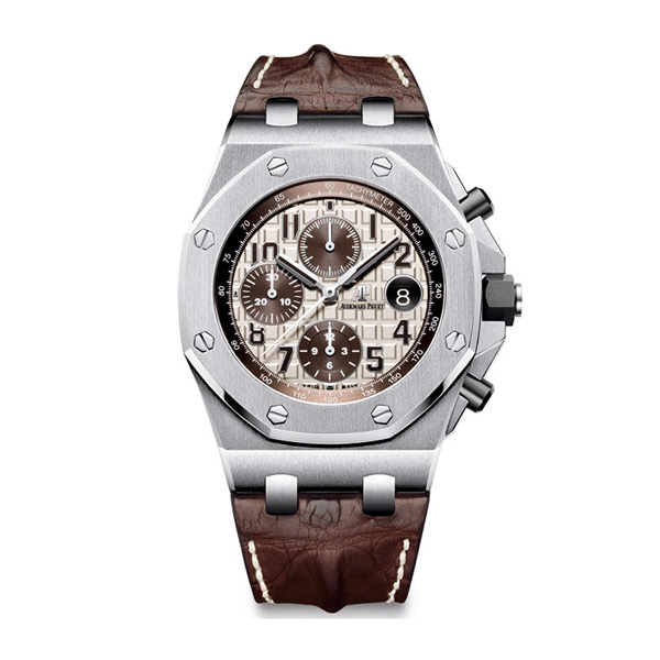 Audemars Piguet Royal Oak Offshore 42mm fake watches with brown leather strap
