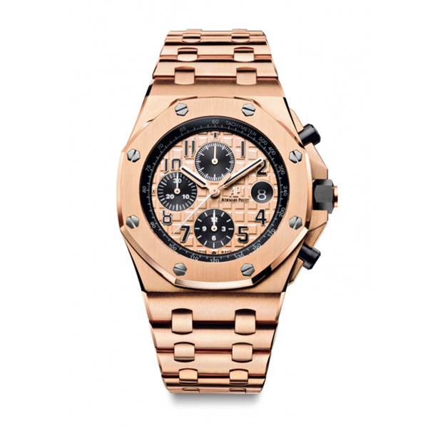 Audemars Piguet Royal Oak Offshore replica watches with red gold bracelet