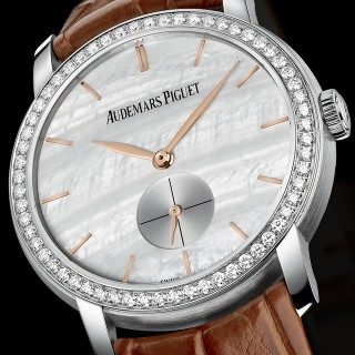 Audemars Piguet Jules Audemars Replica Watches With White Mother-Of-Pearl Dials