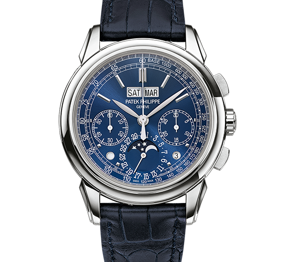 Patek Philippe Grand Complications Replica Watches With Blue Alligator Straps Discounted For Men