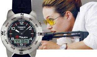"Cool White Arabic Numerals Replica Tissot T-Touch II Watches Shown In ""Mr Smith&Mrs Smith"""