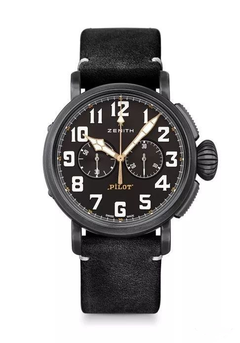 Arabic numeral time scales applied in black fake watches are clear.