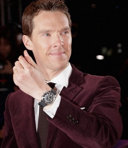 Benedict Cumberbatch With UK Jaeger-LeCoultre Polaris Replica Watches Attending Seoul Film Premiere