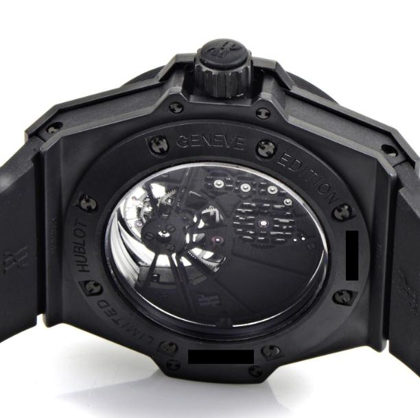 The hand-winding mechanical fake watches have transparent sapphire backs.