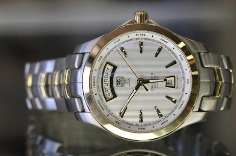Stainless Steel – 18K Gold Replica TAG Heuer Link Watches UK For Couples