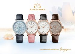 The mother-of-pearl dials replica watches are designed for females.