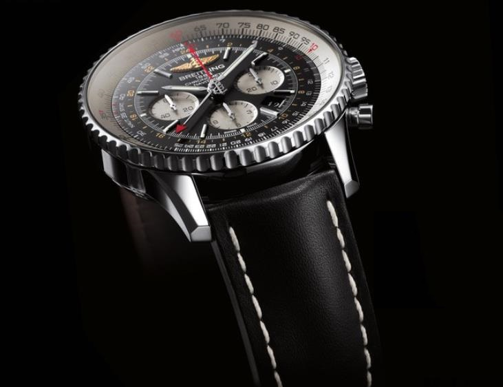 The black straps fake watches are designed for men.