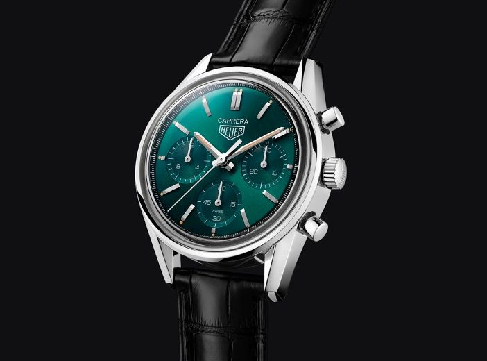 Cheap UK Fake TAG Heuer Carrera Green Special Edition For Sale